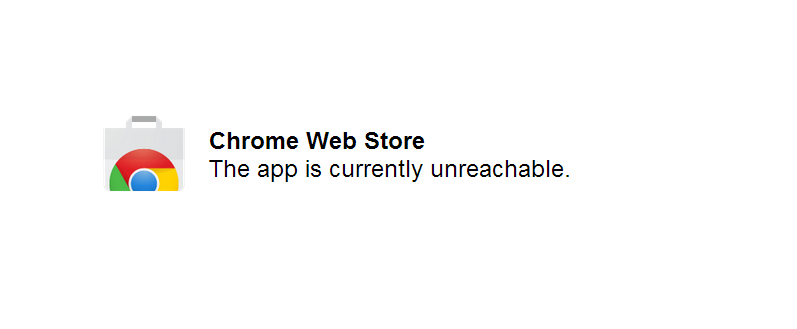 chrome webstore down