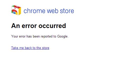 chrome webstore err